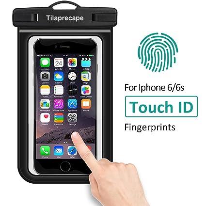 b1e15e9638d Tilaprecape - Funda 100% impermeable con pantalla táctil de PVC sensible,  bolsa seca negra