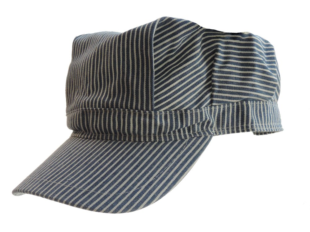 Child's Blue Engineer Train Conductor Hat Jacobson Hat Company