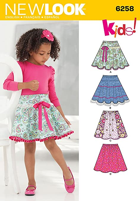 Simplicity New Look Sewing Pattern 6258: Child\'s and Girls\' Circle ...