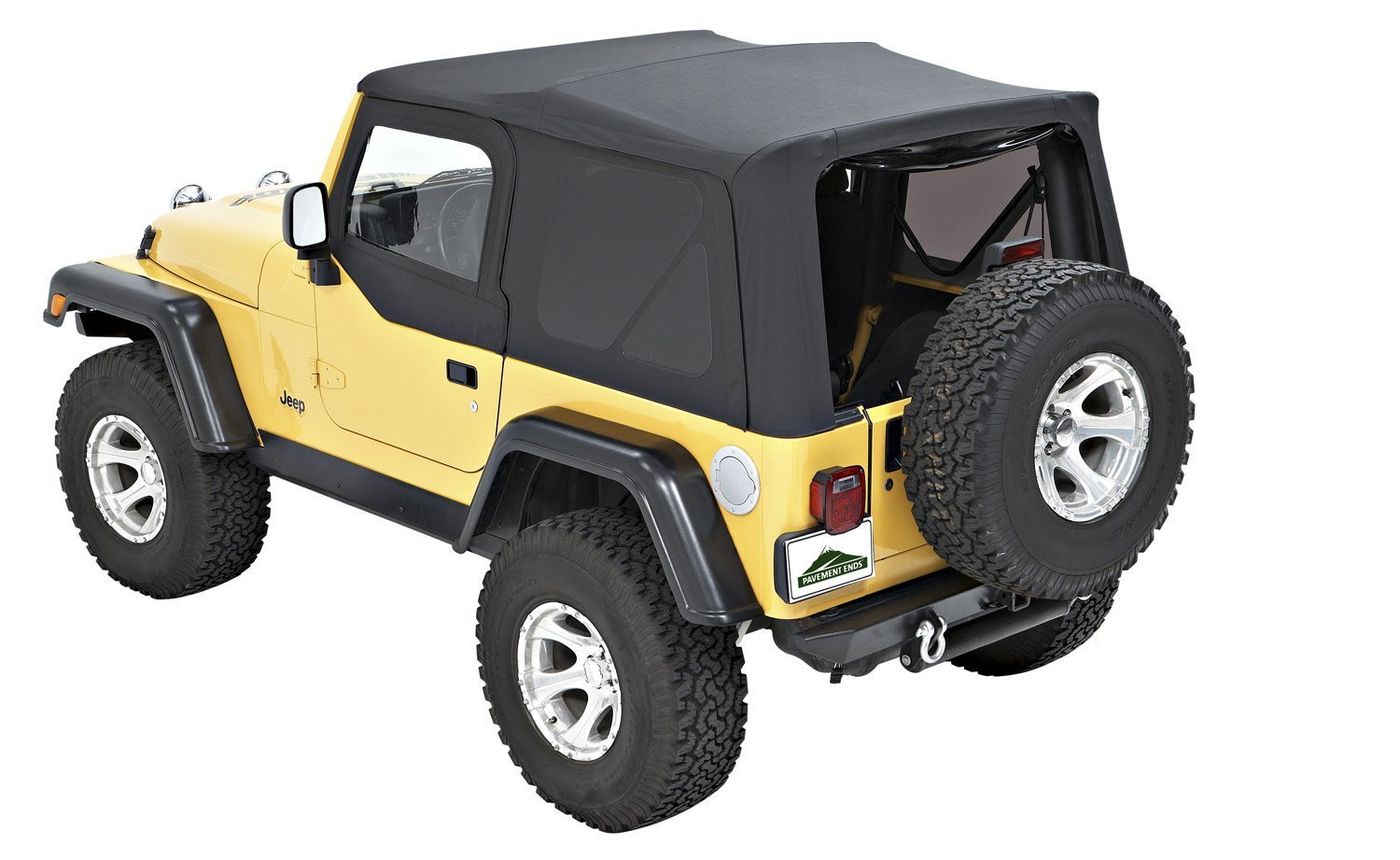 Amazon.com: Pavement Ends by Bestop 51197-35 Black Diamond Replay  Replacement Soft Top Tinted Back Windows w/Upper Door Skins for 1997-2006 Jeep  Wrangler: ...