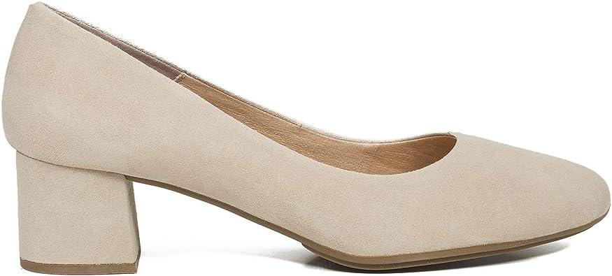 Redondo Zapato de tacón bajo Arena: Amazon.es: Zapatos y complementos