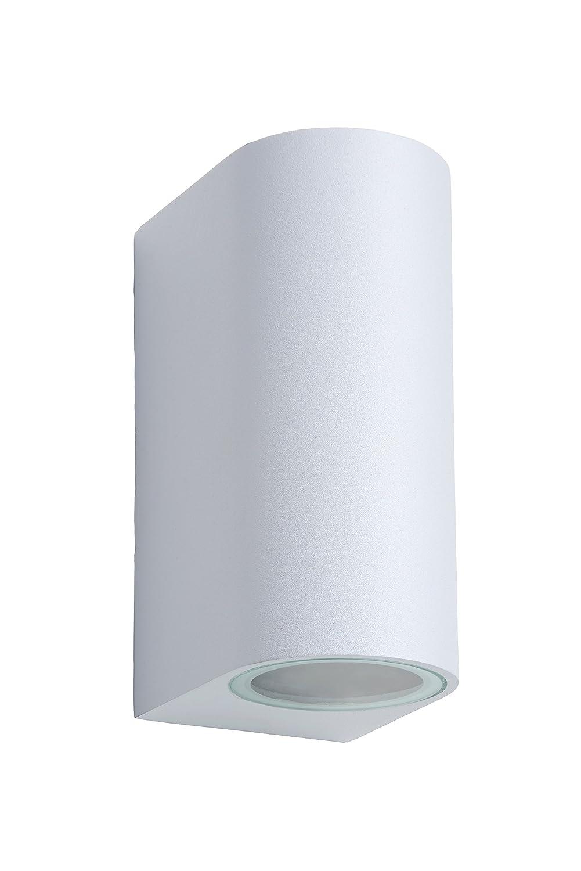 - GU10-2x5W 3000K Lucide ZORA-LED Wandstrahler Au/ßen Schwarz IP44 LED Dim