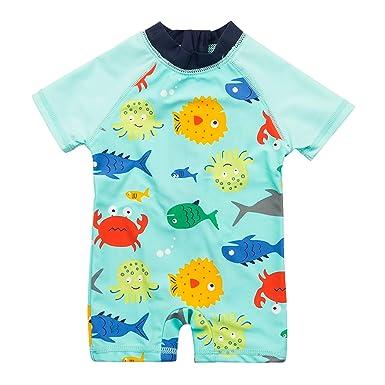Vivafun Baby Girl Sun Protective Swimwear Infant Toddler Rash Guard Shirt Baby & Toddler Clothing