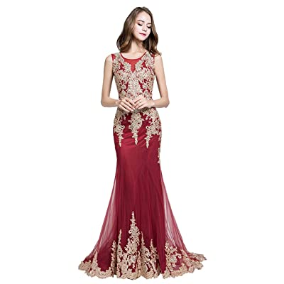 Sarahbridal Women's Rhinestones Beaded Tulle Prom Dress Long 2020 Mermaid Pageants Party Gowns at Women's Clothing store