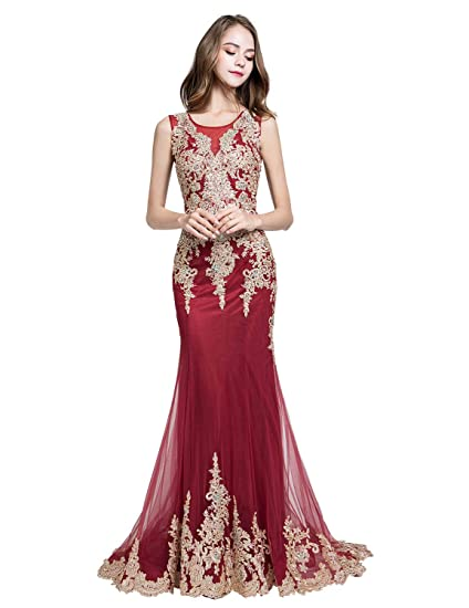 40ffcfa812082 Sarahbridal Women's Crystal Beaded Prom Dresses Long Formal Evening Gowns  LX116