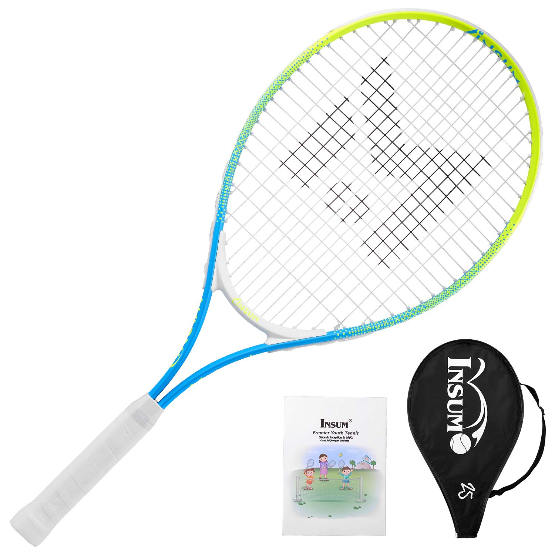 insum Junior Tennis Racquet 25'' Beginner Kids Starter (Ages 9-10) with Shoulder Strap Cover Bag