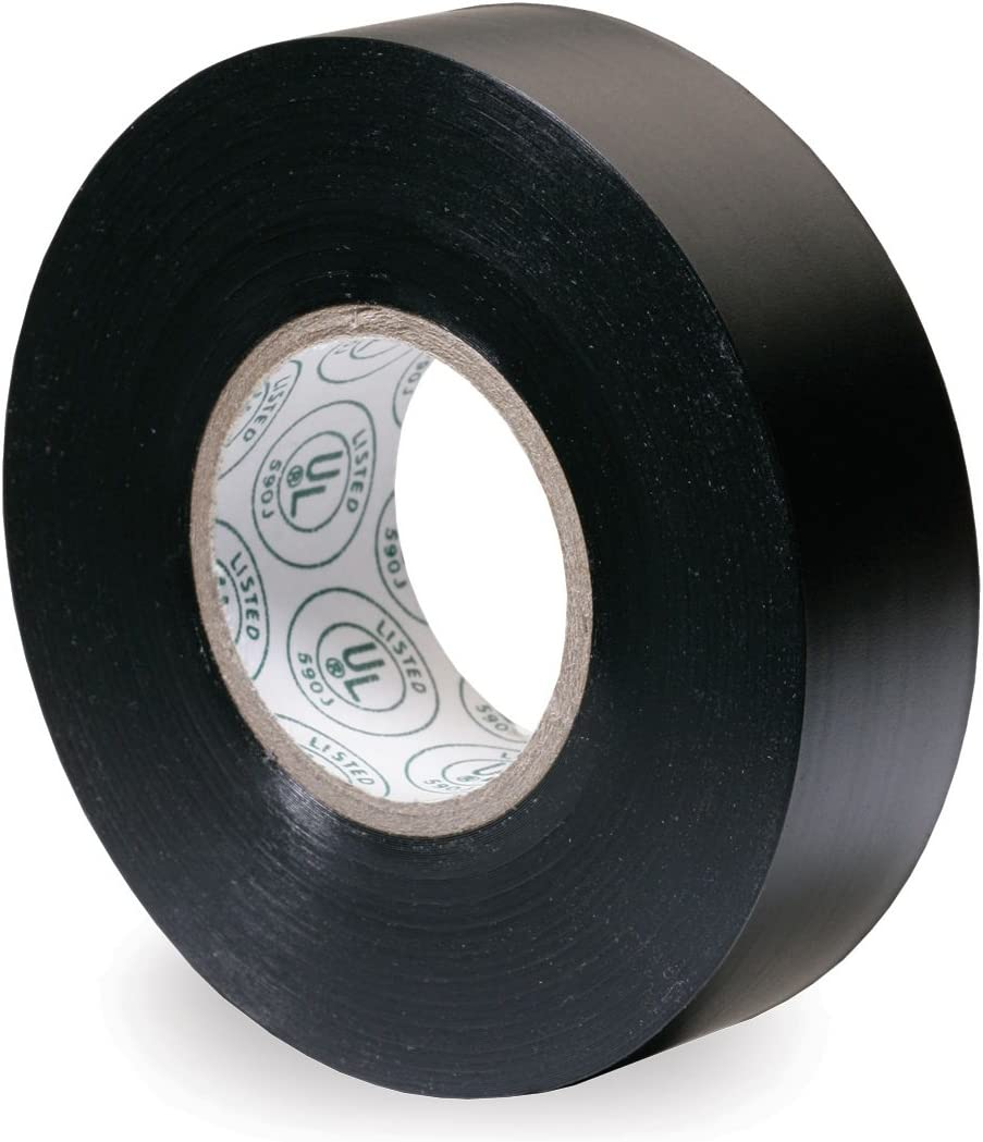 Gardner Bender GTPB-550 Electrical Tape, ½ in x 20 ft, Durable, Easy-Wrap, Flame Retardant, 5 Pk, Black