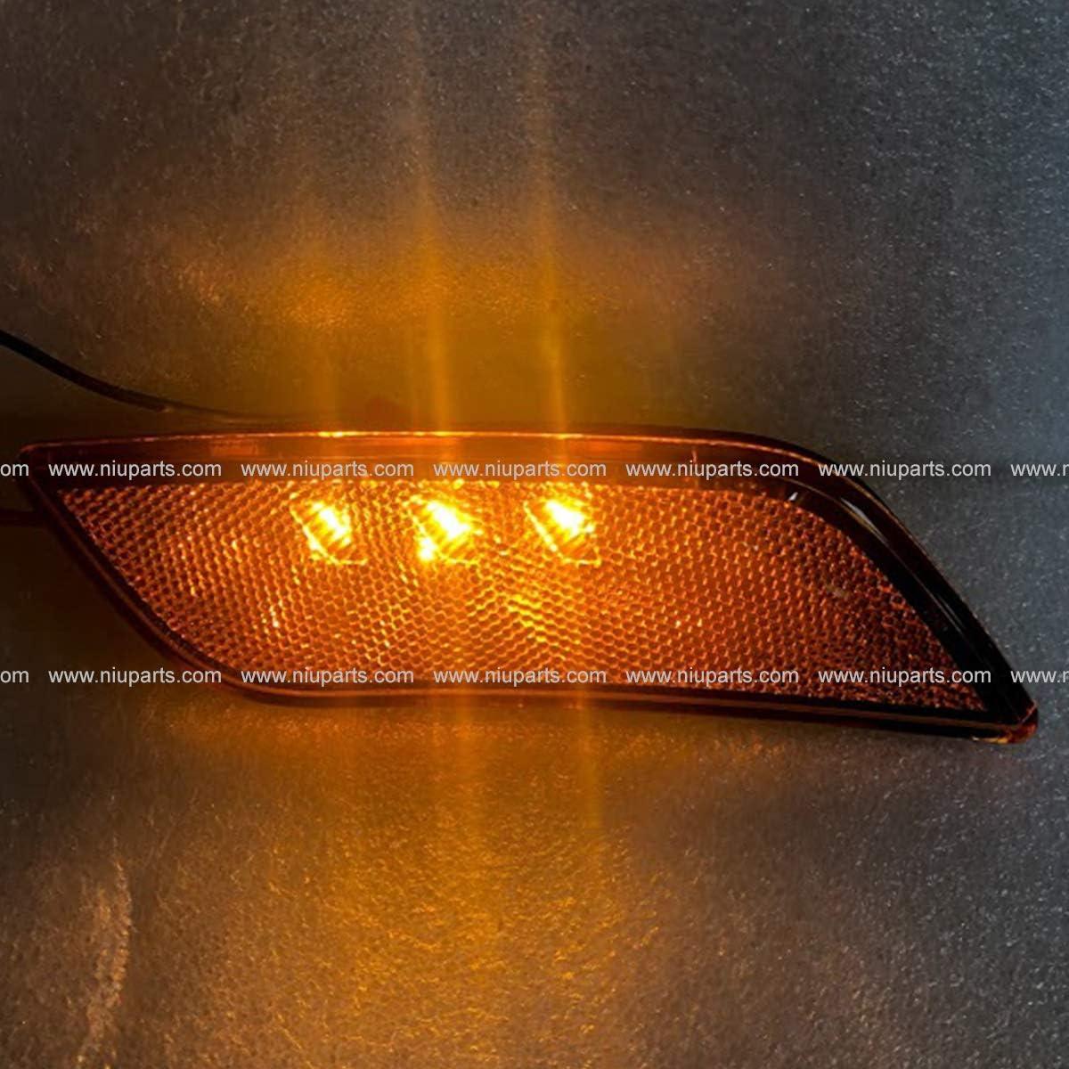 LED Front Fender Side Turn Signal Marker Indicator Amber//Amber Light Passenger Side Fit: 2010-2019 Peterbilt 587 579