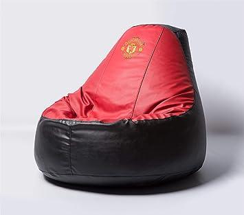Amazon.com: Manchester United – Puf de fútbol cómodo para ...