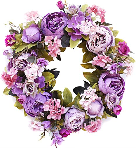 Hydrangea Wreath  Mother/'s Day Gift  Twig Wreath  Natural Wreath  Summer Wreath  Wall Decoration  Gift  Spring and Summer Wreath
