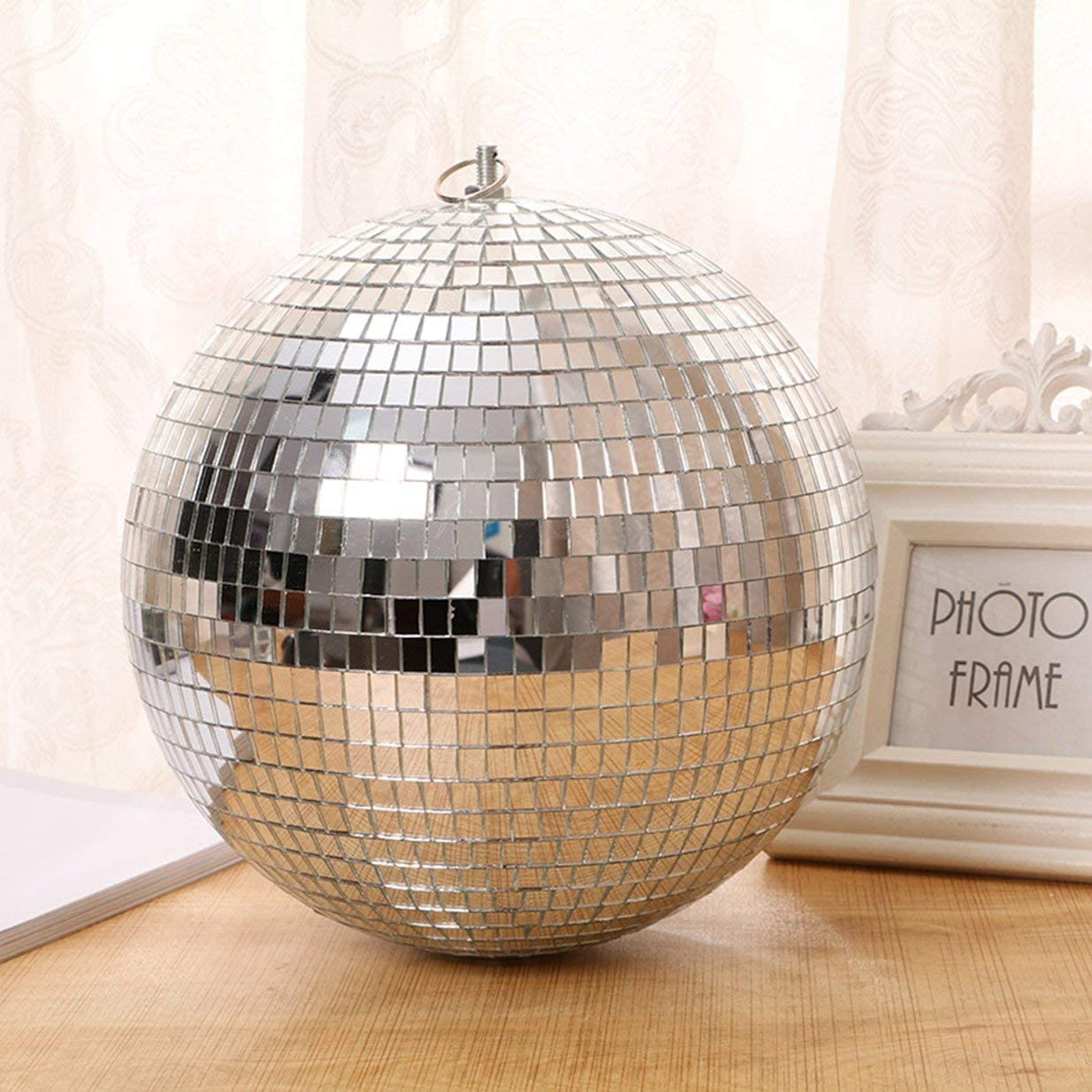 Large Mirror Glass Disco Ball DJ Dance Home Party Bands Club Stage Lighting Durable Disco Ball Light