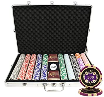 MRC 1000pcs Ace Casino Laser Poker Chips Set With Aluminum Case Custom Build