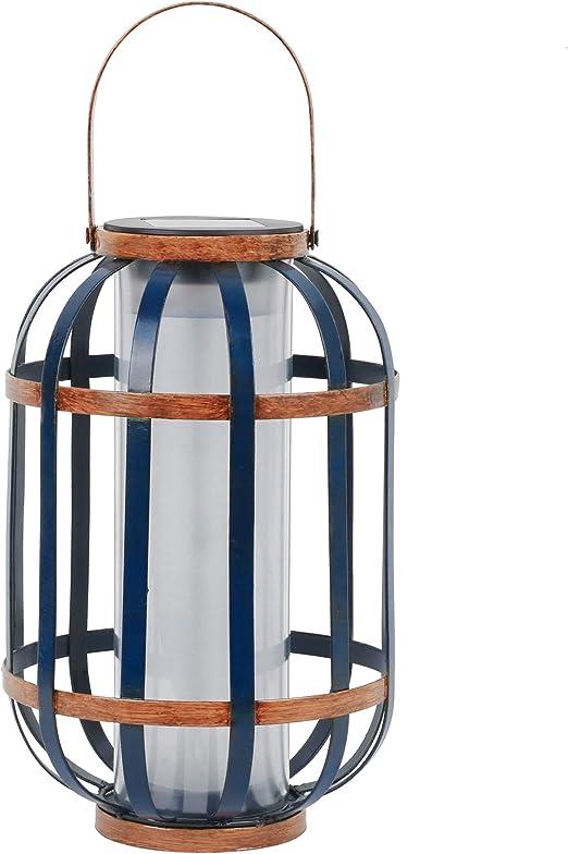 TERESAS COLLECTIONS 35cm Farol Solar Farolillos de exterior Lantern Outdoor LED Colgante Lámpara de Metal de Luces de Jardín Lámpara Hexagonal, Linterna de Luces Decoración Adorno de Jardín: Amazon.es: Iluminación