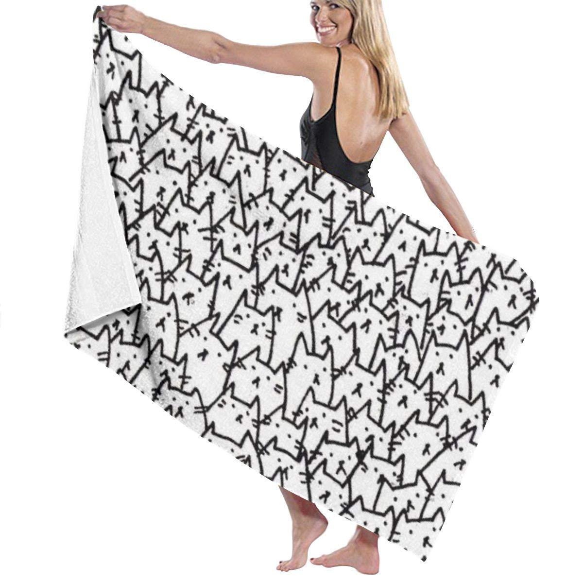 80x130 cm Moto tyui7 Bain de Serviette de Bain pour Femme Wraple Travel Wraps de Serviette de Plage /à s/échage Rapide pour Femmes 1c