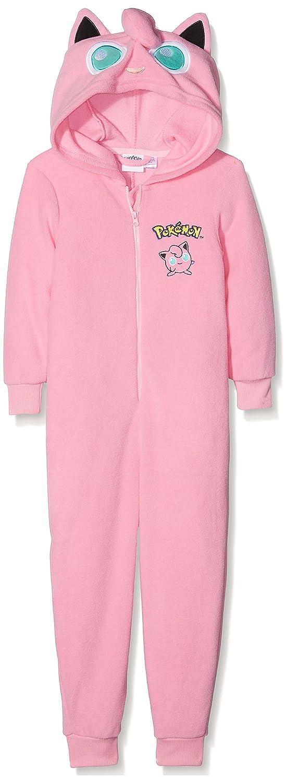 Pokemon M/ädchen Einteiliger Schlafanzug Jigglypuff Dress Up