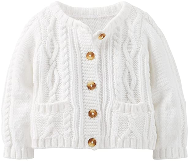 Amazon.com: Carter's Cable Knit Cardigan (Baby) - Ivory-3 Months ...