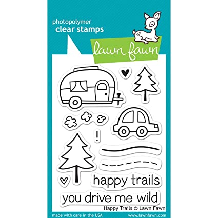 Lawn Fawn Clear Stamps - Happy Trails #LF601