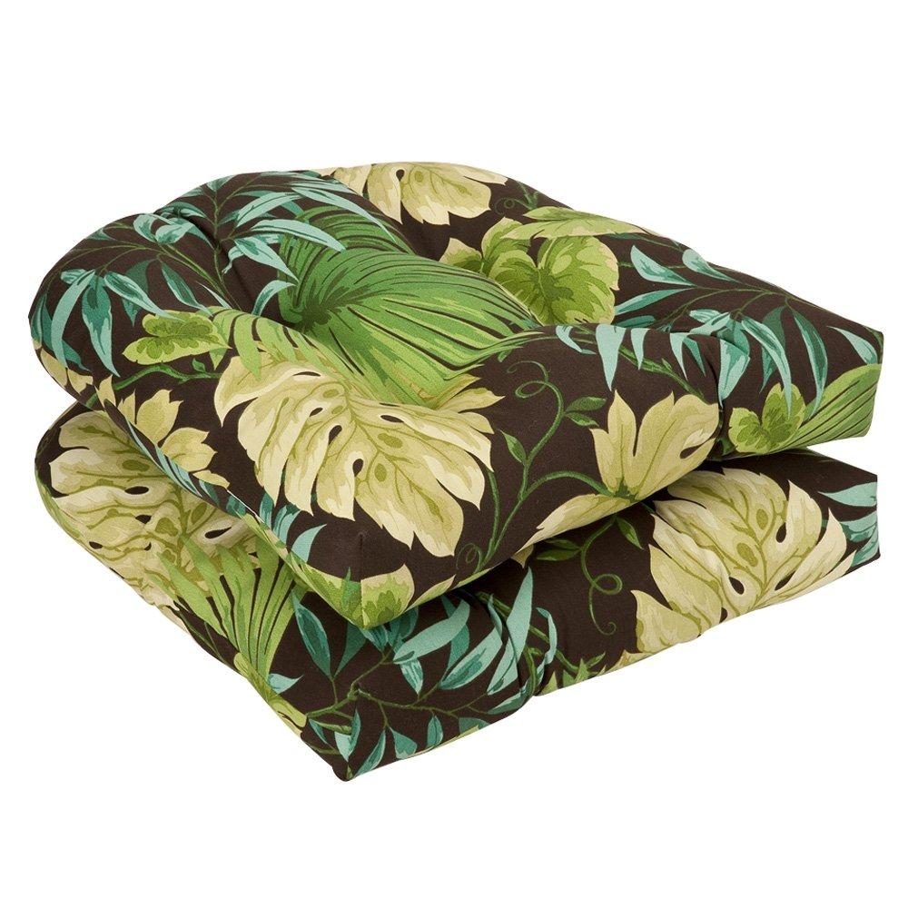 Pillow Perfect Indoor/Outdoor Brown/Green Tropical