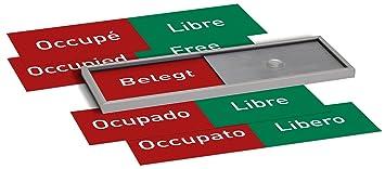 Madrid Silver Line Frei Belegt Anzeige Mehrsprachig 50x150mm Set
