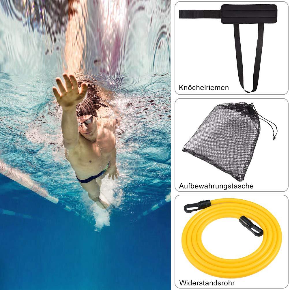 RUNACC Einstellbare Pool Schwimmg/ürtel Schwimmwiderstand G/ürtel Schwimmtraining Bungee Durable Schwimmgurt f/ür Schwimmingpools Widerstandstraining