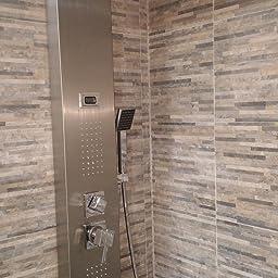 Columna de hidromasaje para ducha, Claramente muestra la ...