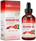 100% Pure Rosehip Oil - 120ml - Certified ORGANIC - Revitalises Skin & Hair - Clinically Proven - Natural / Cold pressed & unrefined - NON Greasy HIGH absorbency - Use daily - Anti ageing, nourishes, hydrates and visibly reduces fine lines, scars, stretch marks and skin pigmentations - Suitable for all skin types - Eden's Semilla Essential Skin Care