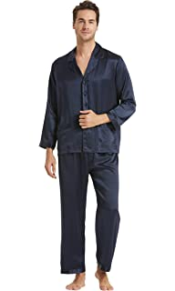 9c834d4a4a LILYSILK 100 Pure Silk Pyjamas for Men Set Long Sleepwear Pyjama Set 16 Momme  Mulberry Silk…