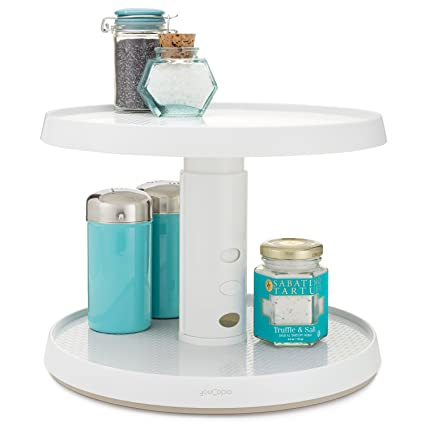 YouCopia Two Tier Crazy Susan Kitchen Cabinet Turntable And Spice Organizer