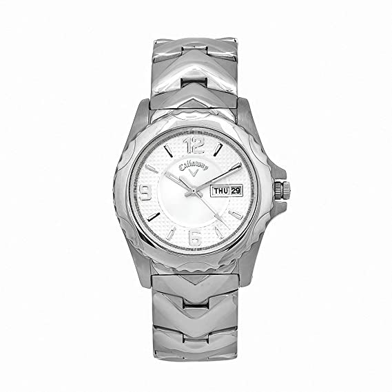 Amazon.com: Callaway Mens CY2058 Golf Stainless Steel Silver Dial Quartz Watch: Watches