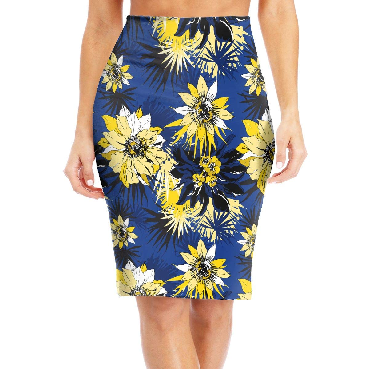 04f1bf912e4a4 Amazon.com: ZSJRH-M Women's Sexy Slim Mid Skirt Yellow Exotic ...