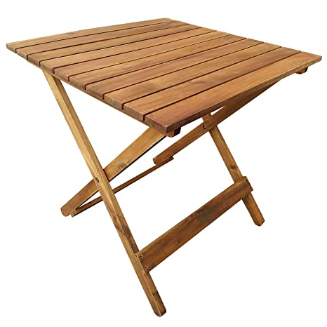 casa pura Table Pliante en Bois - Table d\'appoint pour Terrasse, Balcon,  Jardin | Table Basse en Bois d\'Acacia huilé résistant aux intempéries | ...