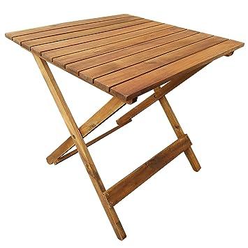 table pliante en bois table dappoint pour terrasse balcon jardin - Table Pliante De Jardin