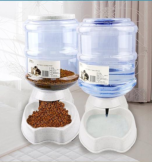 Old Tjikko Automatischer Futterspender Katze,Futterspender und Wasserspender,Wasserspender für Hunde Katze,Futterautomat Katz