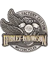 Harley-Davidson Men's Factory Custom Pin, Antique Silver & Gold Finish P142234