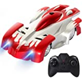 SGILE 4CH Remote Control RC Car Toy for Kids Birthday Gift Present, Wall Climbing Climber Rocket Toy Car Racer, Gift for Kids children boys,Red