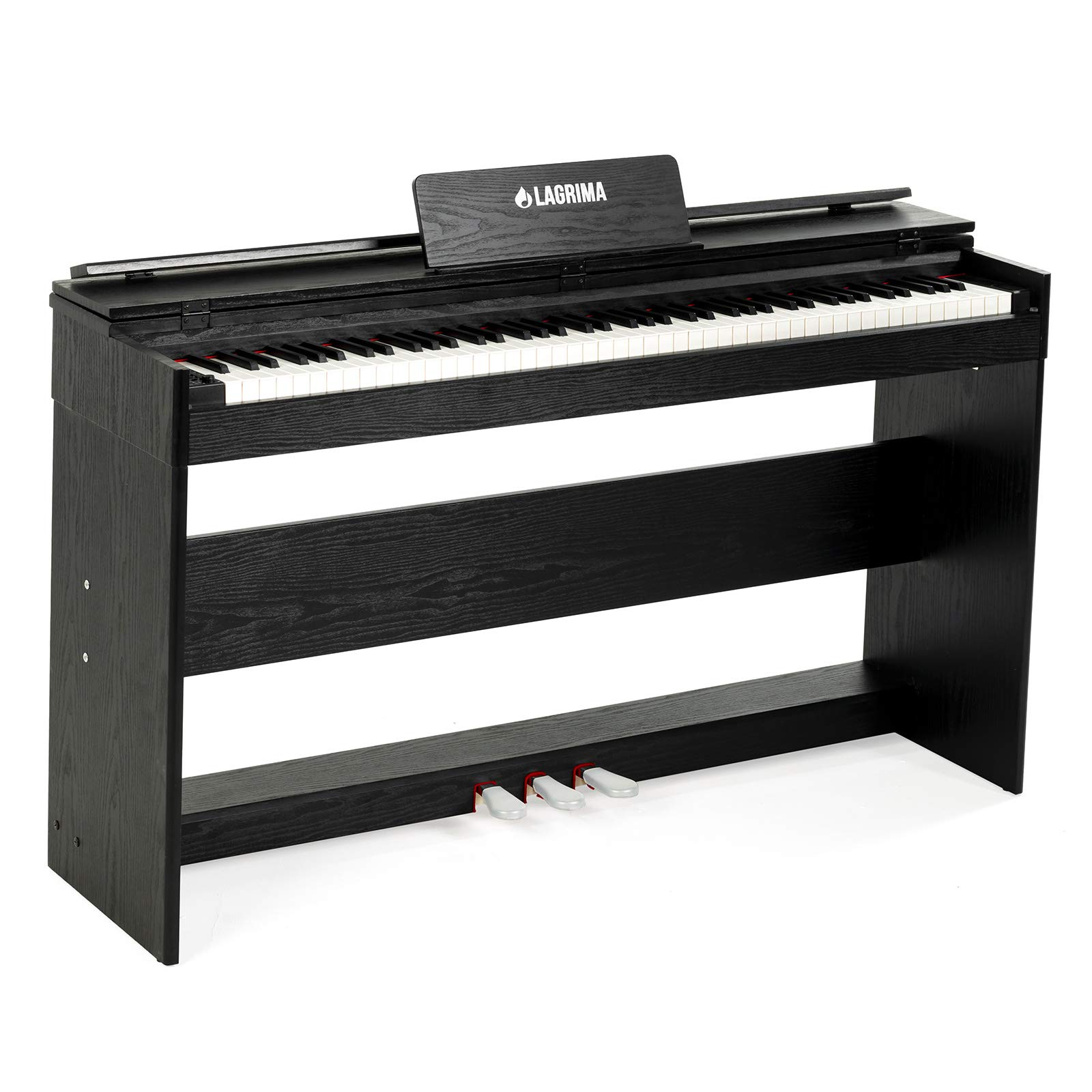 LAGRIMA 88 Weighted Key Digital Piano, USB/MIDI/Headphone/Mic/Audio Output Feature, with Power Supply, 3 Pedals, Instruction Book, Suit for Kids, Teen, Adult, Beginner or Training Institution by LAGRIMA