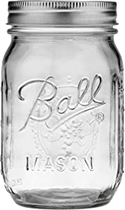 Jarden Ball Regular Mouth 16-Ounces Mason Jar with Lid and Band (1-Unit)