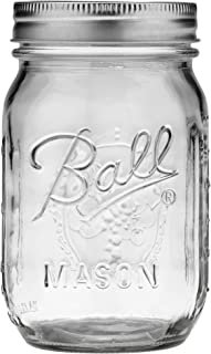 product image for Ball Pint Regular Mouth Mason Jar with Lids and Bands, 16-Ounces (1-Unit)