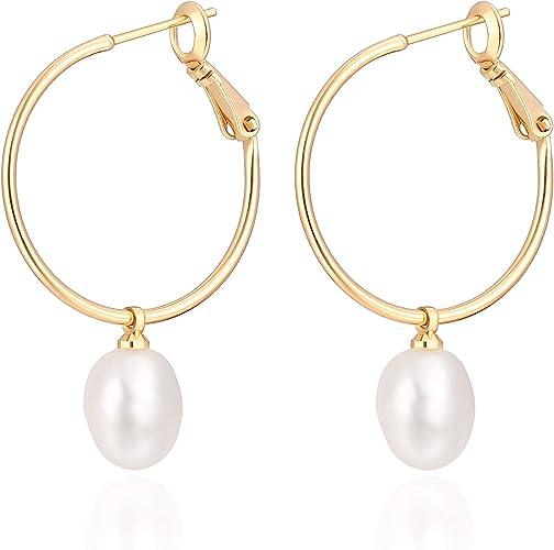 Charms Pearl /& Crystal Drop Earrings For Women Silver Plated Zircon Earring