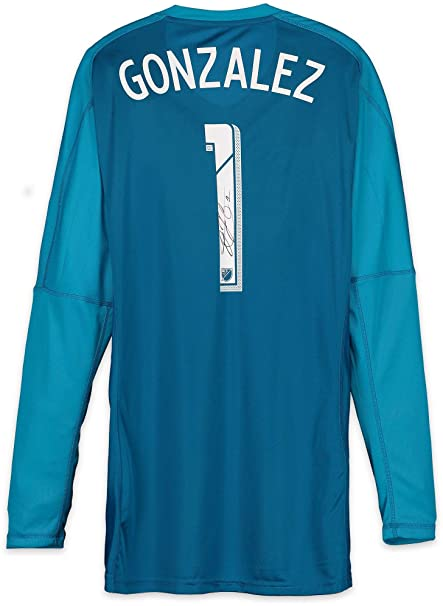 best loved 26032 dd1fb Jesse Gonzalez FC Dallas Autographed Match-Used Blue #1 ...