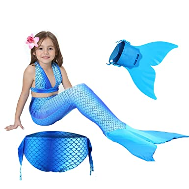 Headlamps Rompers Infant Swimmable Children Little Mermaid Tail Tails Without Monofin Costume For Girls Baby Swimsuit Outfit Kids Ariel Party 3pcs