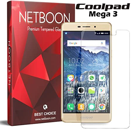 NETBOON reg; Tempered Glass Screen Protector Guard Anti Finger Print Shatter Proof Protection For CoolPad Mega 3 Screen guards