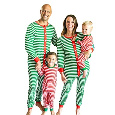 Amazon.com  Family Matching Christmas Striped Pajamas Sleepwear Nightwear  Jumpsuit Clothes Set  Clothing 96cdf395c