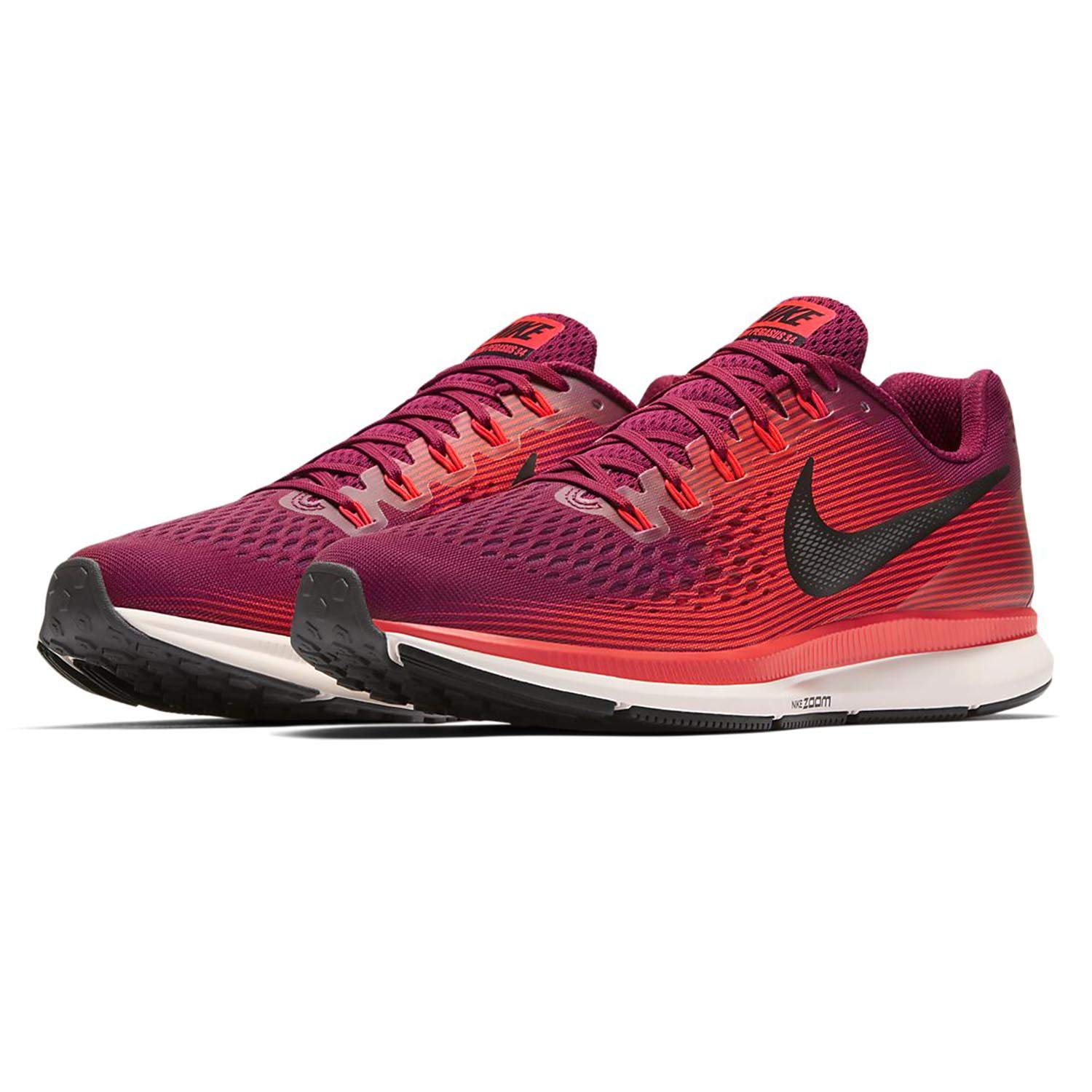 quality design 1ed83 8a343 Nike Men's Air Zoom Pegasus 34 Running Shoes (Rush Maroon/Black, 11 M US)