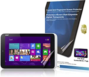 Green Onions Supply Crystal Anti-Fingerprint Screen Protector for Acer Iconia W3/8.0 Tablet (RT-SPAICW3801AF)