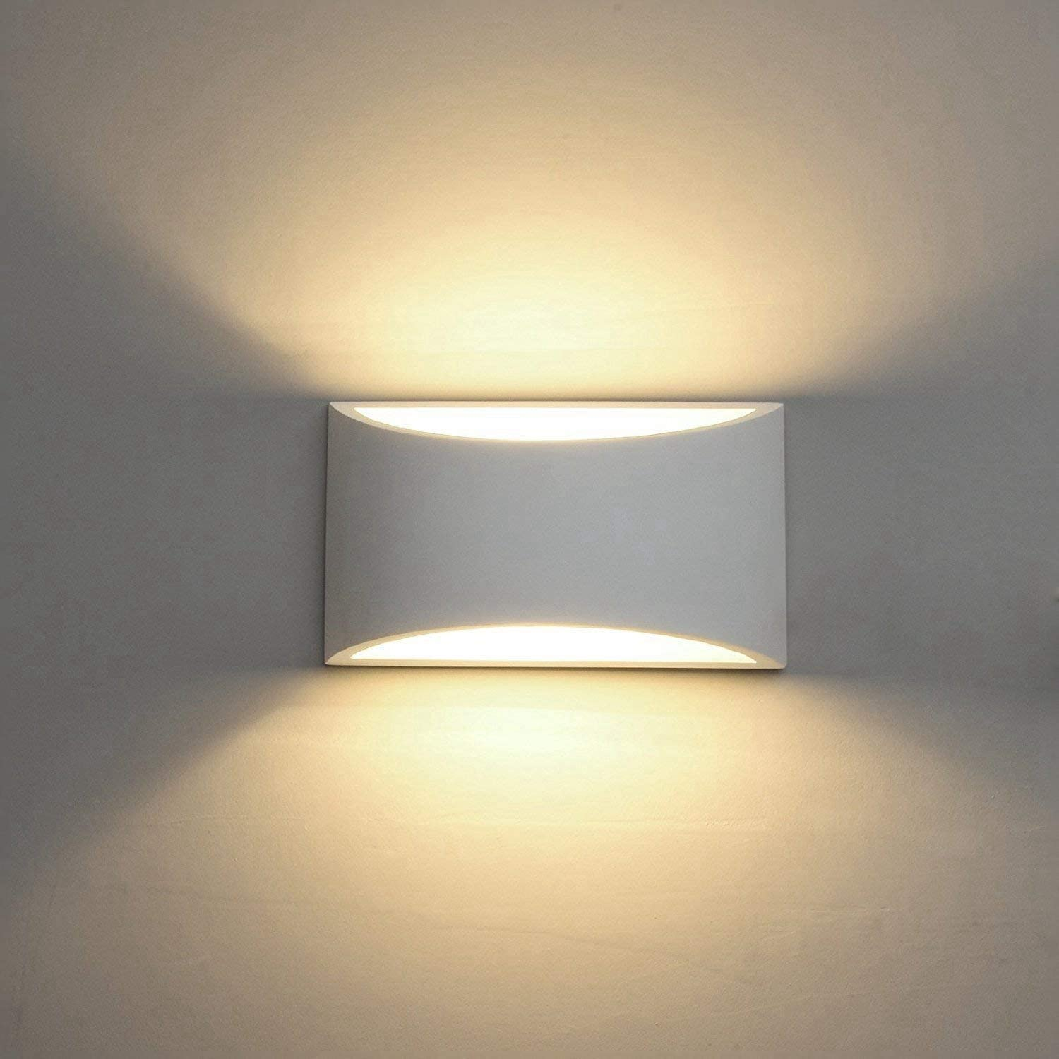 Modern LED Wall Sconce Lighting Fixture Lamps 10W Warm White 21000K Up and  Down Indoor Plaster Wall Lamps for Living Room Bedroom Hallway Home Room