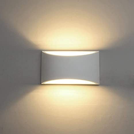 Modern Led Wall Sconce Lighting Fixture Lamps 7w Warm White 2700k Up And Down Indoor Plaster Wall Lamps For Living Room Bedroom Hallway Home Room Decor With G9 Bulbs Not Plug