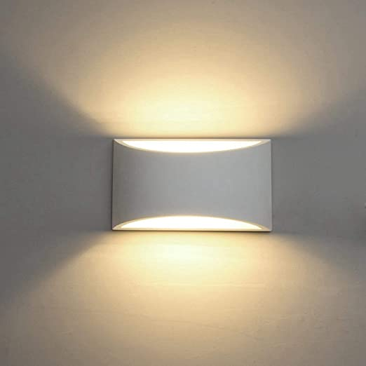 Modern LED Wall Sconce Lighting Fixture Lamps 7W Warm White 2700K Up and  Down Indoor Plaster Wall Lamps for Living Room Bedroom Hallway Conservatory  ...