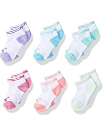 PUMA girls Puma Girls' 6 Pack Low Cut Socks