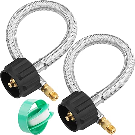 """Acme X 1//4/"""" Male Npt- 1Feet 12Inch Rv Pigtail Propane Hose Connector 2-Pack ,"""